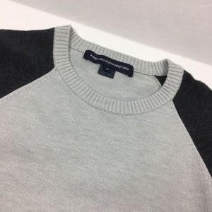French connection gray crewneck stretch sweater